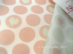 'Peach + cucumber...' and 'Cucumber + peach heart polka dots by Su_G' close up (Su_G) Tags: pink 2017 sug pinks spoonflower swatch basiccottonultra polkadots polkadot heart heartinpolkadotmotif heartinpolkadot polkadothearts pastel pastelcolours pastelcolors subtle wedding romantic bridal love hearts peach cucumber green palegreen spoonflower0341 colorreversalpair quirky colourreversalpair smallscale weddingseason weddingseasonlimitedcolorpalette