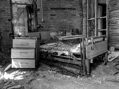 She cleaned house when she left (photography_isn't_terrorism) Tags: divorce rust rusted rusty abandoned decay hospital bw hdr