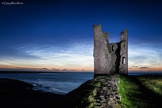 Night Shining Tower - Noctilucent Clouds, Dunstanburgh Castle, Northumberland