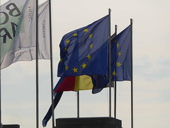 European and Belgian flags (seikinsou) Tags: brussels belgium bruxelles belgique summer bozar flag europe eu belgian