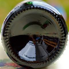 Bottle Bottom Up! (Gerald Lang) Tags: 75lbottleofredwine bottomsup macromondays