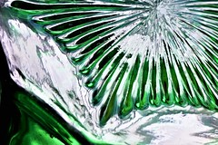 The bottom of a green Depression Glass salt shaker (Lana Pahl / Country Star Photography) Tags: happymacromonday macroflickr macrohousehold macromonday macrophotography macrobeauty macromondays bottomsup