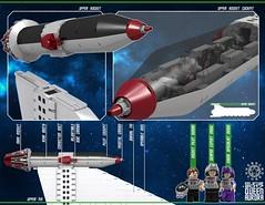 Queen Aurora 31 (messerneogeo) Tags: messerneogeo robot mech mecha ninja ganzo queen aurora spaceship battleship lego