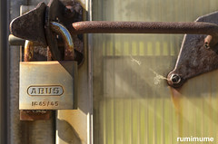 Secure (rumimume) Tags: potd rumimume 2017 niagara ontario canada photo canon 80d sigma old abandon disused outdoor rust lock
