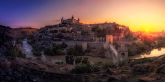 Toledo-sunset (rafaberlanga) Tags: olympusmzuiko71428proancient architecture building capital castle city cityscape europe hill history landmark landscape night old outdoor palace panoramic spain sunset toledo tourism town view