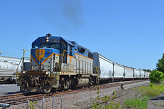 D&H 7303 Switching the Base (ERIE1960) Tags: trains railroad railfan locomotive emd gp382 standardcab delawareandhudson dh canadianpacific plattsburgh newyork