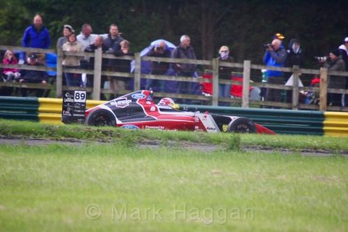 Jamie Sharp in British F4 during the BTCC weekend at Croft, June 2017
