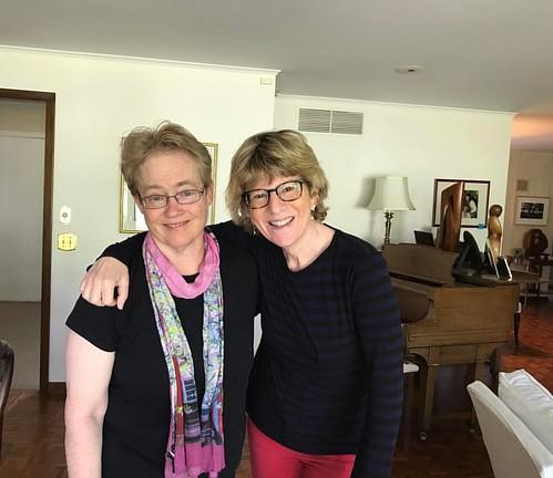 With Tracy Neiman. Bffs since kindergarten.