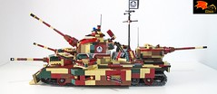 Hydra Tank - Side view (Eínon) Tags: hydra marvel red skull captain america lego ww2 world war two super heavy tank land battleship