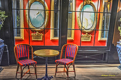 back porch (albyn.davis) Tags: colorful colors paris france europe travel restaurant furniture porch vivid bright vibrant red