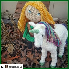 Sunday Share Day! Meet my friend Chelsea at @crochels13. She handmakes fantasy stuffed dolls and toys that are fun for all ages. This enchanted doll and unicorn are a perfect example to the kind of work she can do. Check her out at http://www.crochels.com (christinahunt-schubnell) Tags: geeks fable geeklife fairy fantasydoll fantasyworld enchantedforest elves folklore fantasycreature crochetdoll fantasyart geekchic fantasy magick crochet crochels medieval mythicalcreatures dwarf unicorntribe weamiguru dragon crochettoy geekery fairytales enchanted unicornlife mythicalbeast pushingdaisies