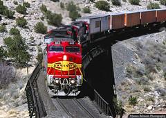 Bridge 4 in Abo Canyon (jamesbelmont) Tags: locomotive superfleet santafe abocanyon newmexico atsf c449w ge bridge canyon