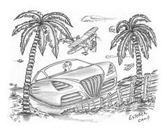 Explorer Camp (rod1691) Tags: bw scifi grey concept custom car retro space hotrod drawing pencil h2 hb original story fantasy funny tale automotive art illistration greyscale moonpies
