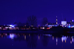 The beginning of the night. (Photolove2017) Tags: blue night ottawagatineau ontario ottawariver reflection river capital citylights museum parliament hill nikondx nikon d3100 downtown