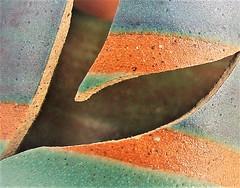 hand thrown, hand dropped! (jenbrasnett) Tags: macromondaysbroken makemesmile abstractreality broken mug handthrown francespollard corfecastlepottery favourite disaster crack break fragment
