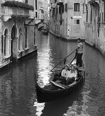 Venice (gragsie) Tags: boat canal gondolier