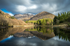 Loch Torren (chrismarr82) Tags: scotland highlands glencoe lee nikon clouds longexposure reflection mountain ten stop