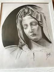 (byminna) Tags: drawing draw sfumatura matita riproduzione michelangelo pietà