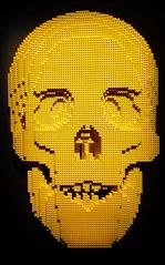 Yellow Skull from Skulls by Lego artist Nathan Sawaya (mharrsch) Tags: skull yellow lego sculpture art nathansawaya artofthebrick exhibit omsi oregonmuseumscienceandindustry oregon mharrsch
