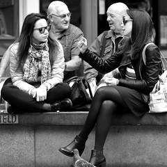 ...about that big! (Harry Halibut) Tags: 2017©andrewpettigrew allrightsreserved contrastbysoftwarelaziness noiretblanc blackwhite blancoynegro blanc weiss noire schwatz bw zwart wit bianco nero branco preto imagesofsheffield images sheffieldarchitecture sheffieldbuildings colourbysoftwarelaziness south yorkshire sheffield sheff1706252213 themoor women talking sitting benches seats people pigeon