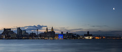 Before the dawn (MarkWaidson) Tags: liverpool waterfront moon night dawn