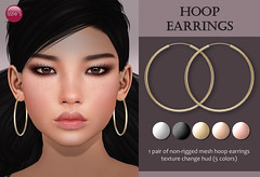 Hoop Earrings (for FLF) (Izzie Button (Izzie's)) Tags: flf izzies hoops hoop earrings sl