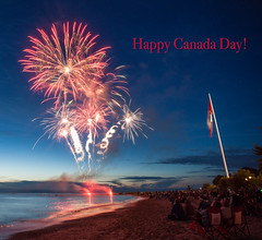 Happy Canada Day (Bryan N) Tags: canada locations northamerica ontario southhampton fireworks day 150 lake huron sky flag beach summer