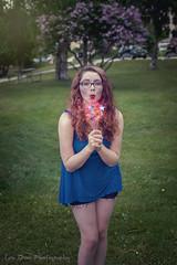 July in the Park (Keltron - Thanks for 10M Views!) Tags: sydni redhead redhair redlipstick 4thofjuly independenceday sparkler girlwithglasses elderberrypark modeling alaskangirls anchoragegirls