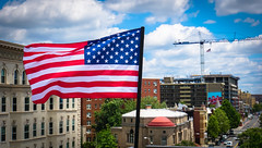 2017.07.02 Rainbow and US Flags Flying Washington, DC USA 7206