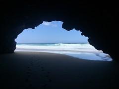 (*tmk*) Tags: kauai hawaii cave sea ocean blue escape inspire travel vacation quiet sky happiness