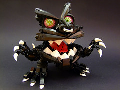 The Vicious Grokmagroz (Djokson) Tags: teeth crazy eyes black red white pink djokson lego bionicle moc model toy monster demon