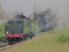 Running light engine to Kidderminster (simonjohn4) Tags: foley park tunnel severn valley railway erlestoke manor