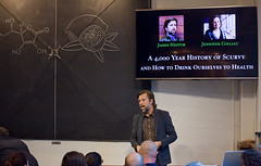 Scurvy Salon at The Interval, May 02017 (Long Now) Tags: longnow conversationsattheinterval interval events 02017 chalkboard chalk otto scurvy salonevent jamesnestor