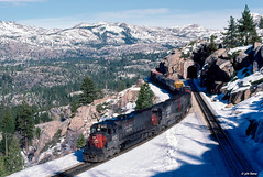 SP 9212 West at Yuba Pass, CA (thechief500) Tags: donnerpass railroads sp southernpacific espee california