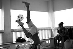 Chennai Soccer - Inverted! (SJ.D750) Tags: soccer football chennai beach thiruvanmiyur youth play ball yoga practise