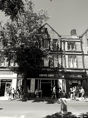 Caffè Capo (tubblesnap) Tags: caffe cafe capo skipton bw black white sunny day