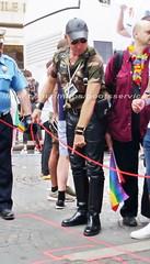 """bootsservice 17 1600529 (bootsservice) Tags: paris """"gay pride"""" """"marche des fiertés"""" bottes cuir boots leather sm motards motos motorcyclists motorbiker chiens dogs sub caoutchouc rubber uniforme uniform"""