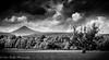 Goatfell Mountain (broadswordcallingdannyboy) Tags: goatfell mountain scotland arran mood atmosphere mono isleofarran scottishisland bwscotland eos7d dramatic scottishscenes scottishscenery highlands lightroom4 canonlens light evening magichour landscape dramaticsky scottishsummer