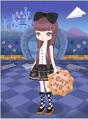 1438609_201705302217 (Nicotto Yume) Tags: ニコッとタウン リボン 紫 ロングヘア 日常 シンプル かわいい