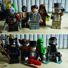 Throwbacks (LordAllo) Tags: lego dc batman throwback thursday hush ras al ghul bane scarecrow mad hatter catwoman manbat penguin killer croc mister mr freeze man bat old school