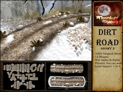 Dirt Road Snowy 2 - LOST & FOUND 22nd June 2017 (moonshagoreanstore) Tags: dirt road way mud leaf leafs autumn rock stones bush plants deco decor forest village medieval fantasy old vintage sl second life mesh prim moon sha moonlight shadow lost found lostfound lostandfound event fair gor gorean goreano goreana torvald torvaldslander sim winter snow snowy