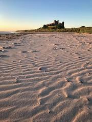 Bamburgh Castle beach at Sunrise (StephenM @mozzasnaps) Tags: bamburghcastle castle