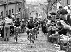 1956 TDF Fred De Bruyne on The Wall (Sallanches 1964) Tags: tourdefrance 1956 freddebruyne wallofgrammont muur cobblestones