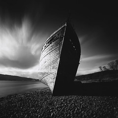 Corpach (Mark Rowell) Tags: corpach fortwilliam scotland hasselblad 903 swc fuji acros bw blackandwhite longexposure film 120 6x6 mediumformat shipwreck