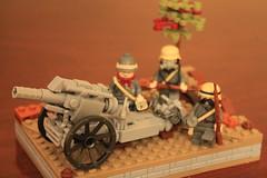 21 cm Mörser 10 (gefreiter eugene krabs) Tags: ww1 germany artillery cannon lego moc military diorama