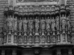 The creator of love and the best gang ever (m barraclough) Tags: blackwhite love art disciples twelve jesus monserrat monastery exterior church statue