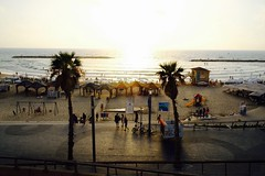 Sunset at the Tel Aviv beach (jonarnefoss2013) Tags: telaviv fujifilmxt20 asia ilovetlv israel
