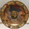 Sardonyx and gold paten with gems and an enamel piece - 6th-7th Century, enamel from Constantinople, 9th-10th Century (Monceau) Tags: muséedulouvre louvre paten sardonyx gold gems enamel sardinia 6th7thcentury squaredcircle squircle brewalpha
