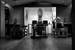 菩薩寺 Buddha Temple (葉 正道 Ben(busy)) Tags: 菩薩寺 buddhaˍtemple buddha temple 光影 light shadow monochrome 單色 taichung taiwan bw 黑白 religion 宗教