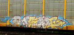 face (timetomakethepasta) Tags: face freight train graffiti art autorack benching selkirk new york photography moter crik sperm